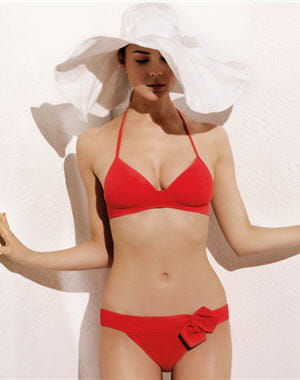 maillot 'pin up' rouge de nina ricci