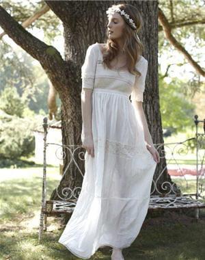 Robe blanche hippie chic - Robe hippie chic mariage ...