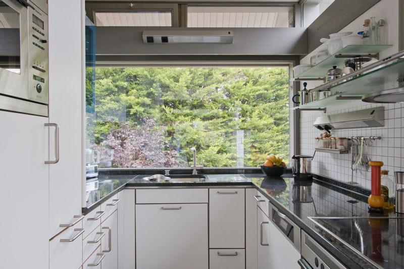 cuisine ouverte sur le jardin