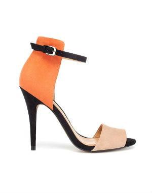 sandales tricolores de zara