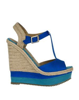 compensées bleues de new look