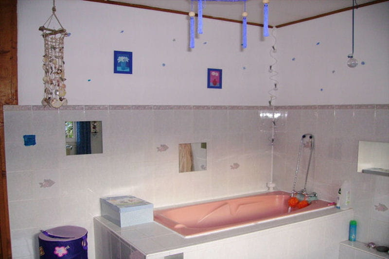 Salle De Bain Baignoire Rose – Idées d\'images à la maison