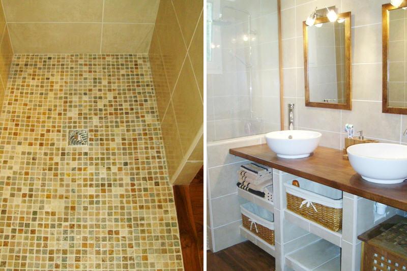 La salle de bains de mireille apr s avant apr s des salles de bains rel - Salle de bain avant apres ...