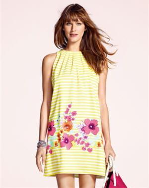robe jaune de camaïeu