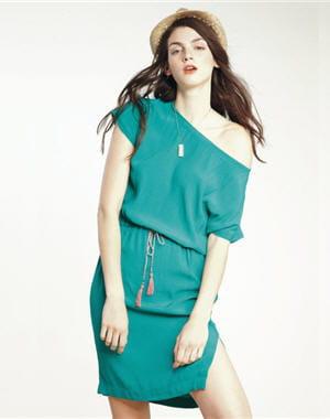 Robe verte de comptoir des cotonniers petites robes de plage pour tre la plus belle cet t - Robe verte comptoir des cotonniers ...