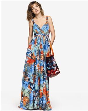 robe tropicale d'etam