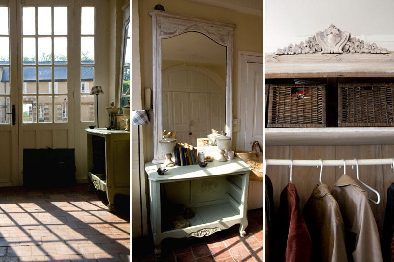 Une entr e subtilement romantique un appartement familial dans un ch teau du xviie si cle - Idee amenagement hall d voorgerecht ...