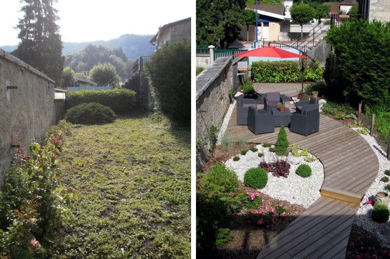 Un sentier-terrasse dans un jardin de ville - Journal des Femmes