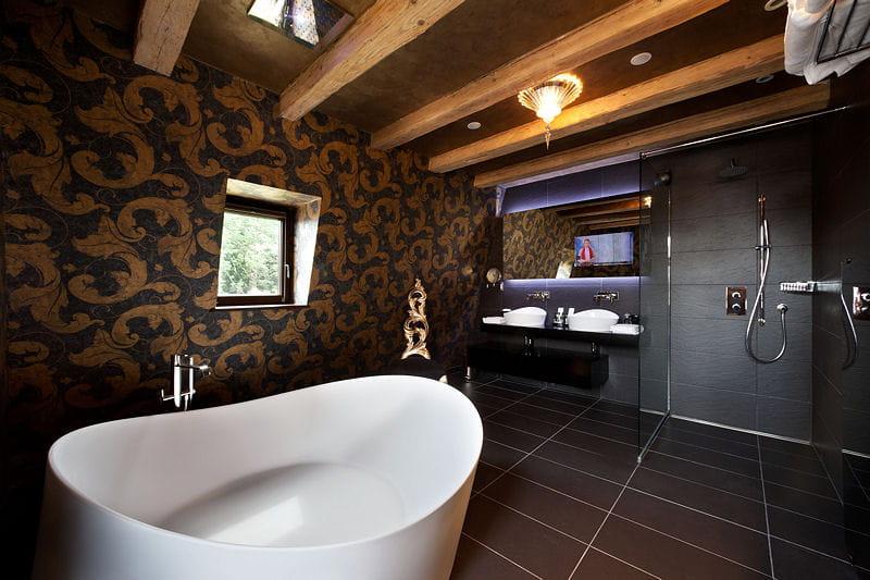 Une salle de bains en noir et blanc d co authentique et raffin e du c t de chez anne Tableau salle de bain noir et blanc