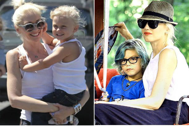Gwen Stefani et ses fistons, de L.A.  New York