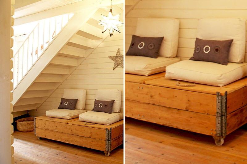 un coffre d guis en banquette des rangements astucieux et patants journal des femmes. Black Bedroom Furniture Sets. Home Design Ideas
