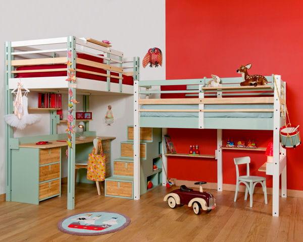 Lit mezzanine d 39 espace loggia chambre d 39 enfant tout for Petit lit mezzanine