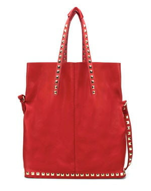 sac shopper rouge de zara