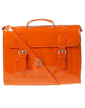 sac cartable orange de claire's