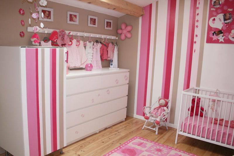 11 peinture chambre fille rose et blanc camaeu de rose des chambres - Peinture Chambre Fille Rose Et Blanc