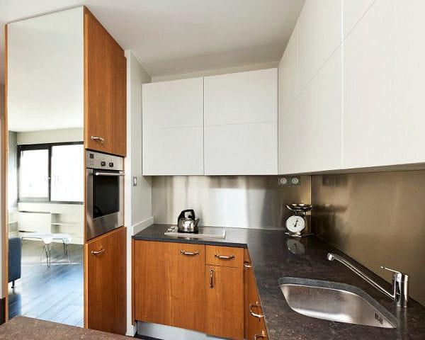 Un miroir pour agrandir lespace : Petite cuisine : comment l ...