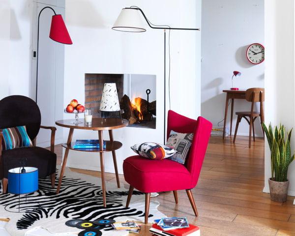 un brin r tro d co salon quoi de neuf journal des femmes. Black Bedroom Furniture Sets. Home Design Ideas