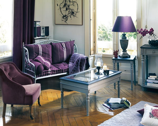 Un salon prune - Comptoir de famille salon de provence ...