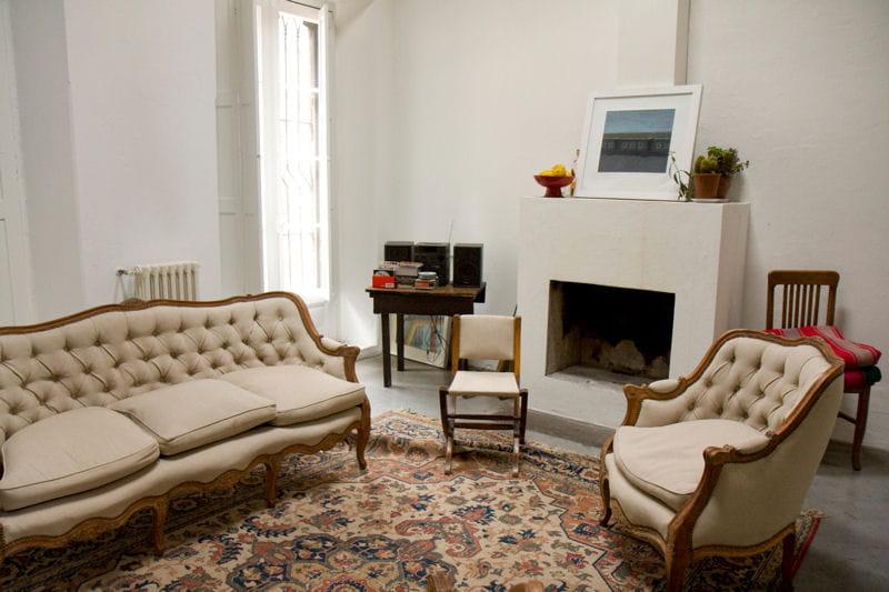 Un salon romantique d co romantique dans une ancienne fabrique argentine - Deco romantique salon ...