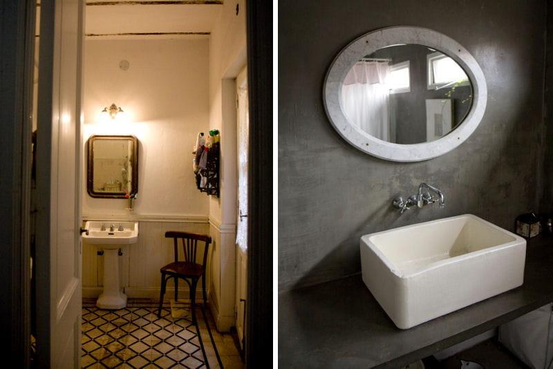 Des salles de bains en contraste d co romantique dans une ancienne fabrique - Carrelage salle de bain style ancien ...