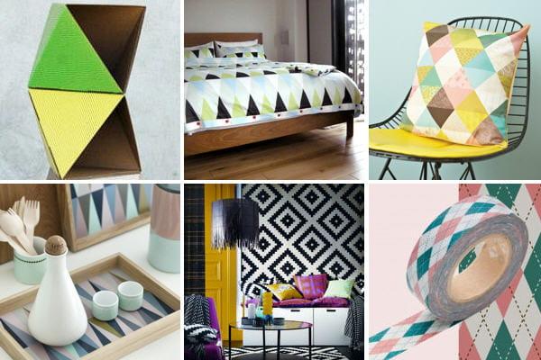 tendance d co g om trique quand les losanges et les triangles jouent les stars journal des. Black Bedroom Furniture Sets. Home Design Ideas