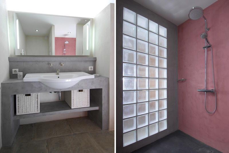 Duo gagnant de gris et rose au mas d 39 augustine une for Deco salle de bain rose et gris