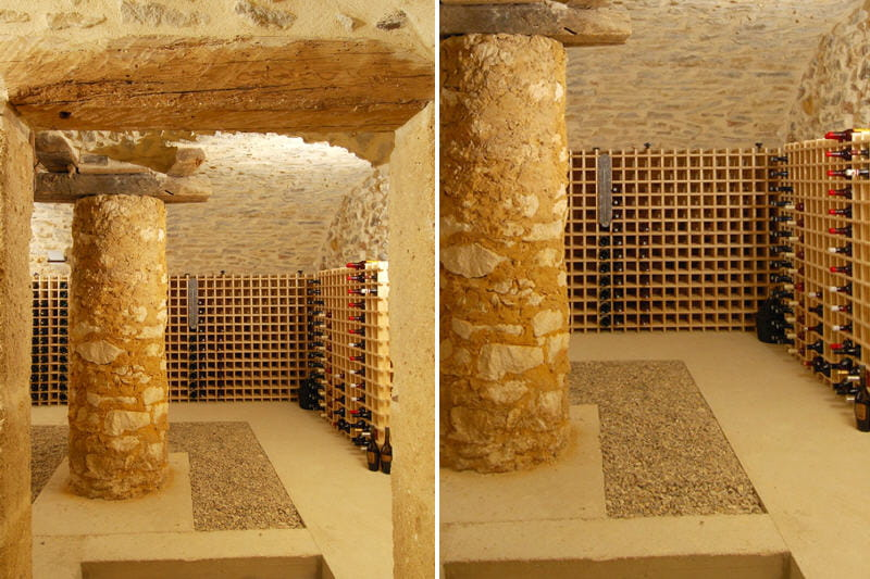 Une place de choix pour les grands crus au mas d for Cave a vin escalier