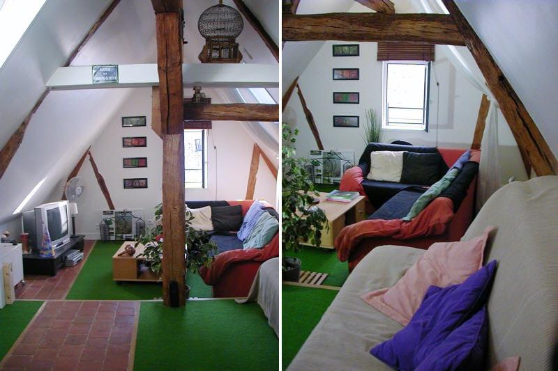 le grenier am nag pour les amis et les loisirs visitez la maison de carine journal des femmes. Black Bedroom Furniture Sets. Home Design Ideas