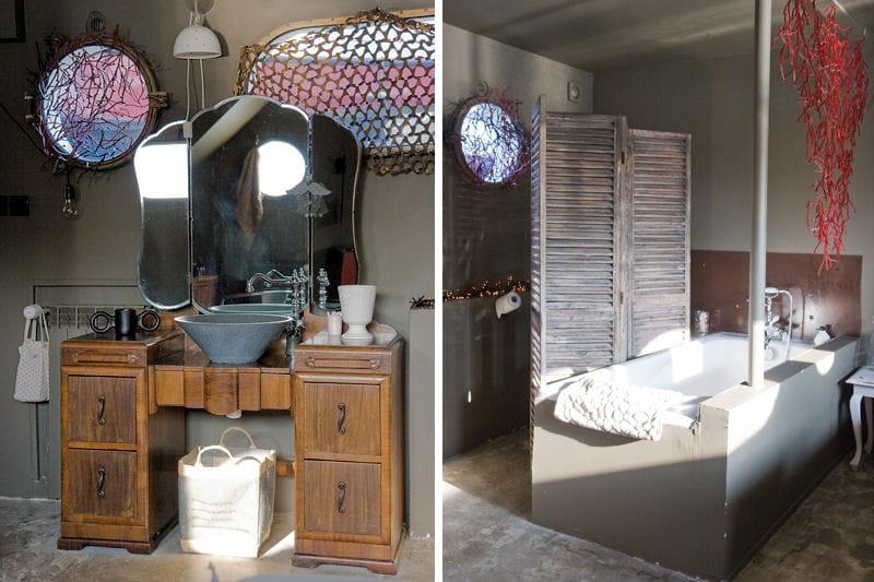 Une coiffeuse détournée en meuble vasque : Salle de bains : 80 ...