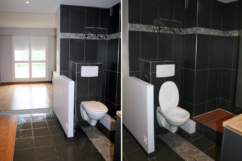 beautiful chambre avec salle de bain et toilette images - design ... - Suite Parentale Avec Salle De Bain