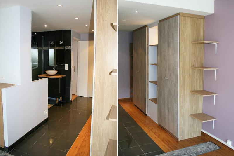 Salle de bains ouverte r novation d 39 une suite parentale journal des f - Suite parentale salle de bain dressing ...