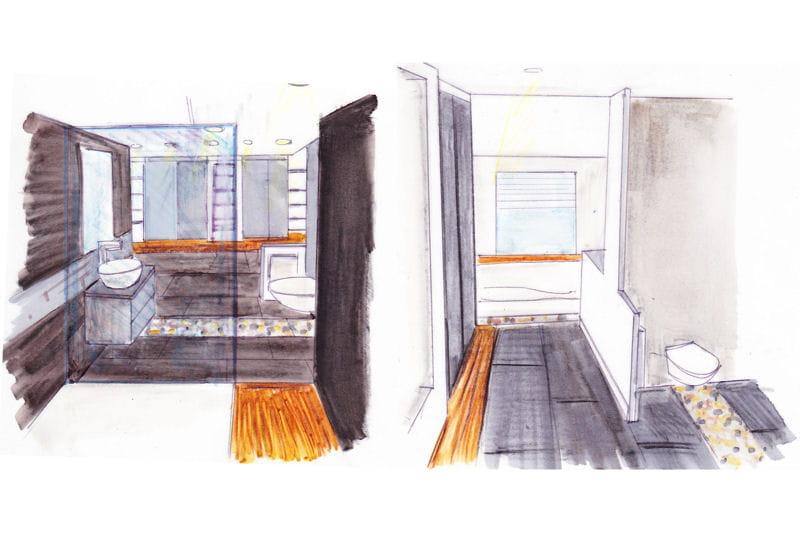 Dessin Du Projet Par L 39 Architecte R Novation D 39 Une Suite