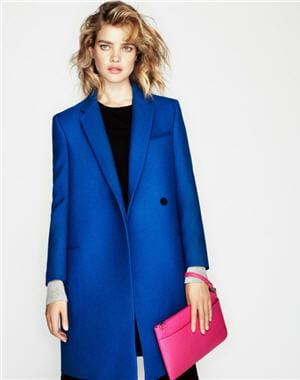 manteau bleu lectrique d 39 etam les manteaux de l 39 hiver. Black Bedroom Furniture Sets. Home Design Ideas