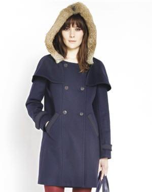 Manteau navy de comptoir des cotonniers les manteaux de - Manteau comptoir des cotonniers hiver 2012 ...