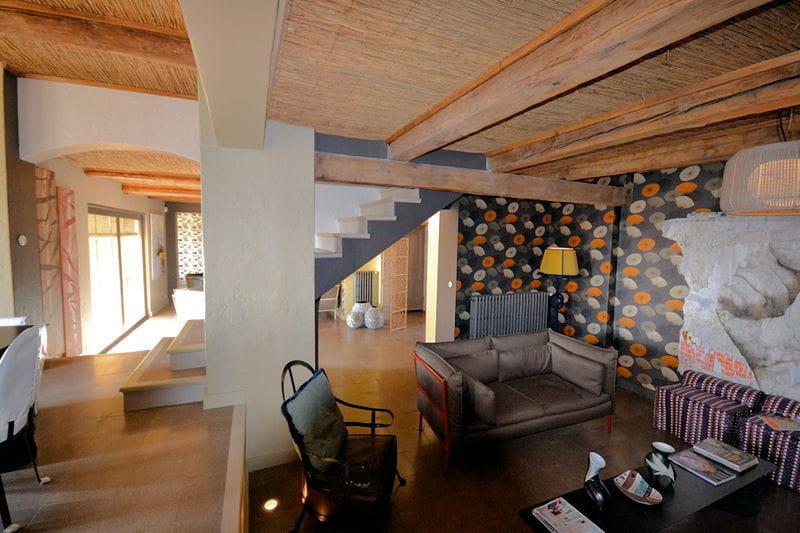 salon ethnique chic le mas de mon p re une maison. Black Bedroom Furniture Sets. Home Design Ideas