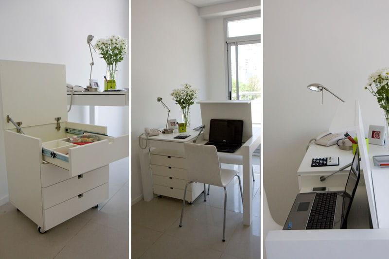 des id es pour bien travailler chez soi un petit espace parfaitement optimis journal des femmes. Black Bedroom Furniture Sets. Home Design Ideas
