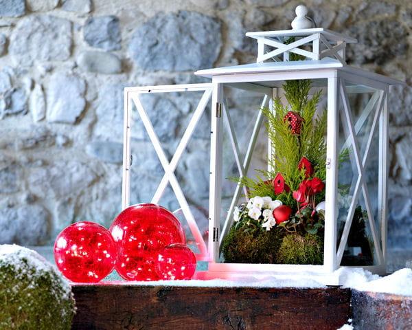 D co de no l objets et luminaires pour le jardin for Decoration exterieur hiver