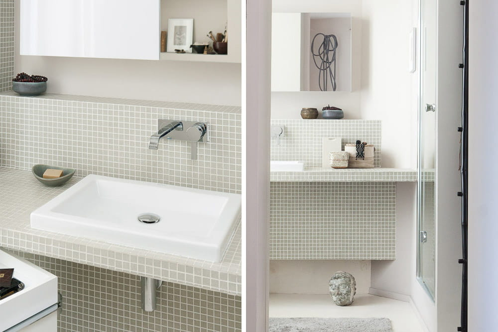 Petits carreaux et grands carr s un int rieur au top de for Photo carrelage salle de bain