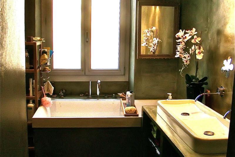 B ton cir dans la salle de bain visitez la maison de - Beton cire salle de bains ...