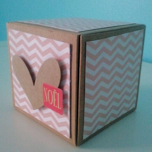 le r sultat d co de no l customiser une box cadeau offrir journal des femmes. Black Bedroom Furniture Sets. Home Design Ideas