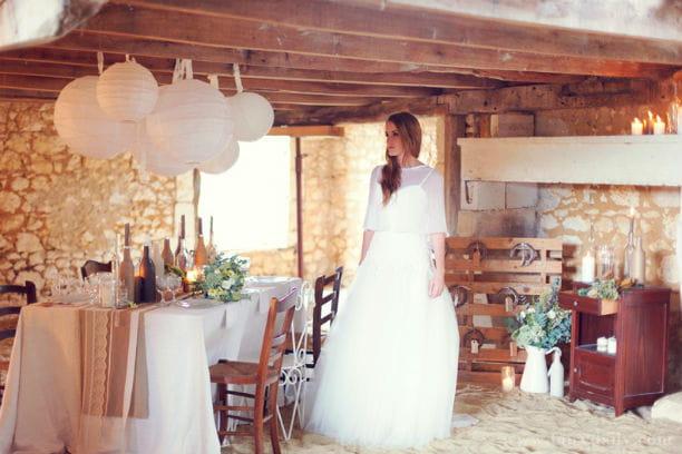 Déco de mariage rustique chic : shooting photo d'inspiration