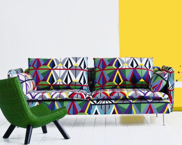 prisme de couleurs canap ikea des tissus vintage par bemz journal des femmes. Black Bedroom Furniture Sets. Home Design Ideas