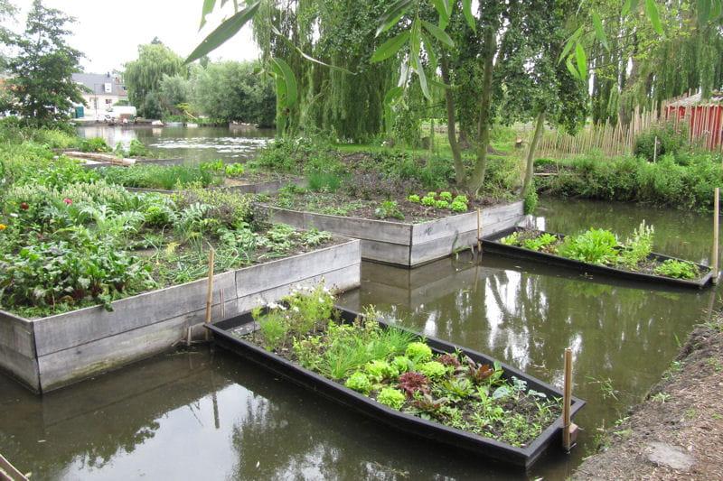 un potager sur l 39 eau potager trois exemples de jardins r ussis journal des femmes. Black Bedroom Furniture Sets. Home Design Ideas