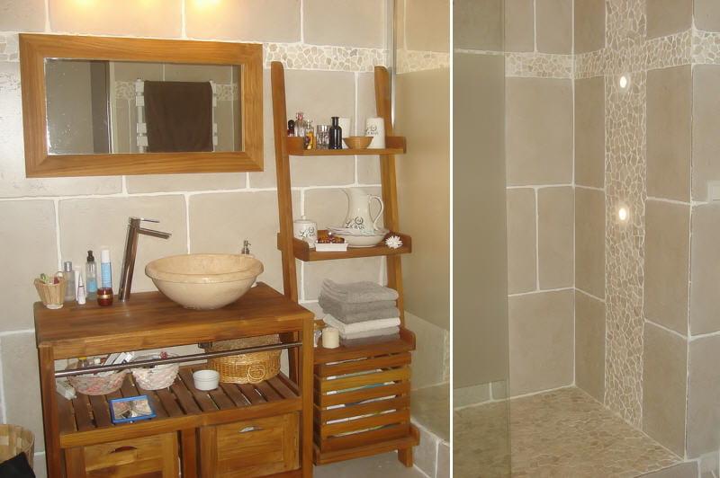 Salle de bain bois et galet images for Galets salle de bain