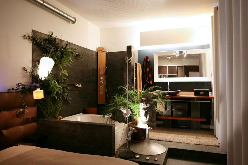 ambiance zen une maison loft chaleureuse et m tiss e journal des femmes. Black Bedroom Furniture Sets. Home Design Ideas