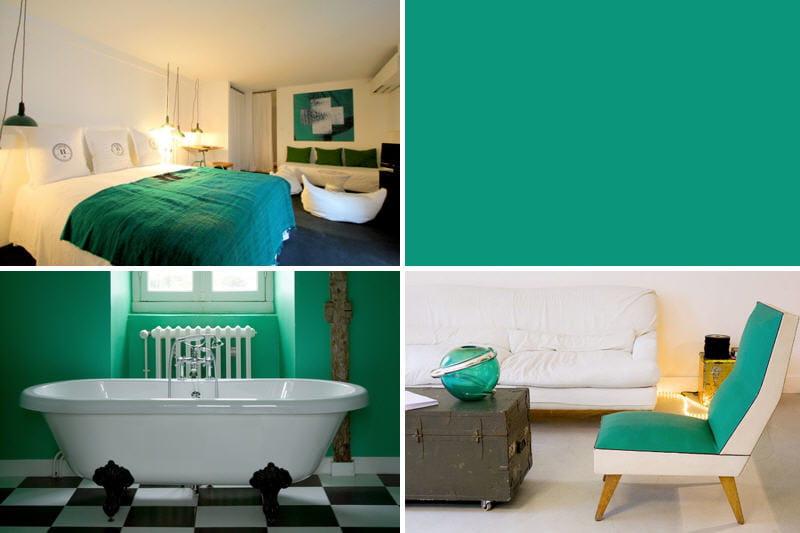 Excellent la couleur dco le vert meraude journal des femmes with peinture interieur tendance