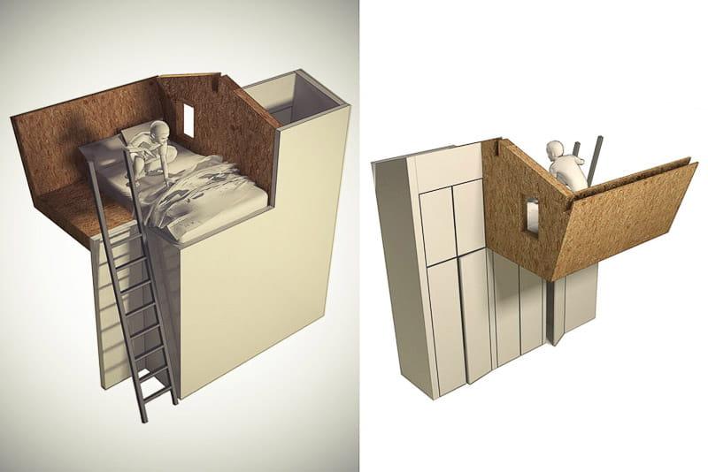 un recoin pour s 39 isoler une cabane dans une chambre d. Black Bedroom Furniture Sets. Home Design Ideas