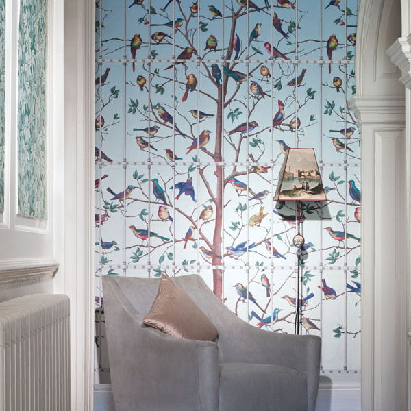 papier peint uccelli de cole and son papier peint osez. Black Bedroom Furniture Sets. Home Design Ideas