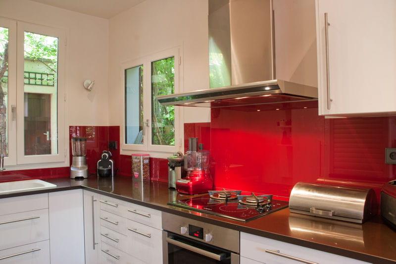 Cuisine rouge et blanc d co de cuisine des id es de pi ces bicolores jo - Journal femmes cuisine ...