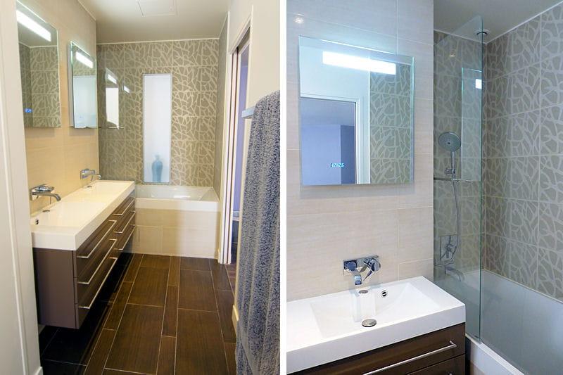 La salle de bains apr s m tamorphose d 39 un appartement - Modele vasque salle de bain ...